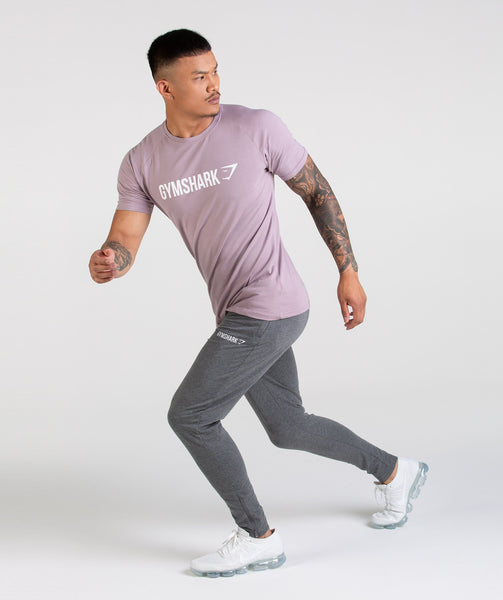 Gymshark Apollo T-Shirt - Purple Chalk/White 3