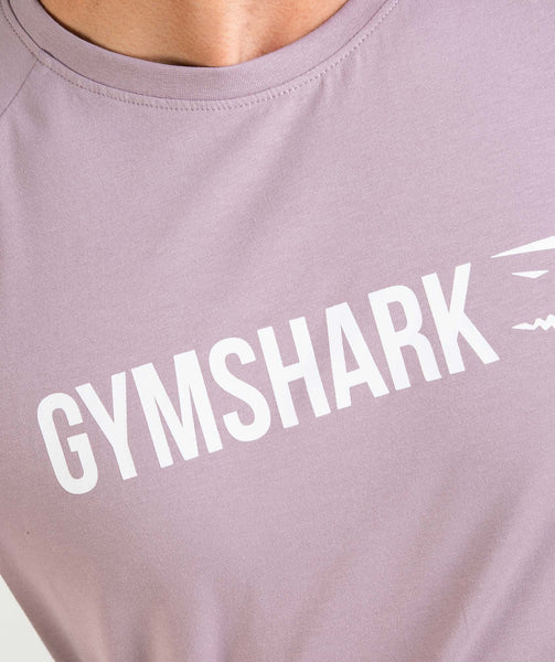 Gymshark Apollo T-Shirt - Purple Chalk/White 4