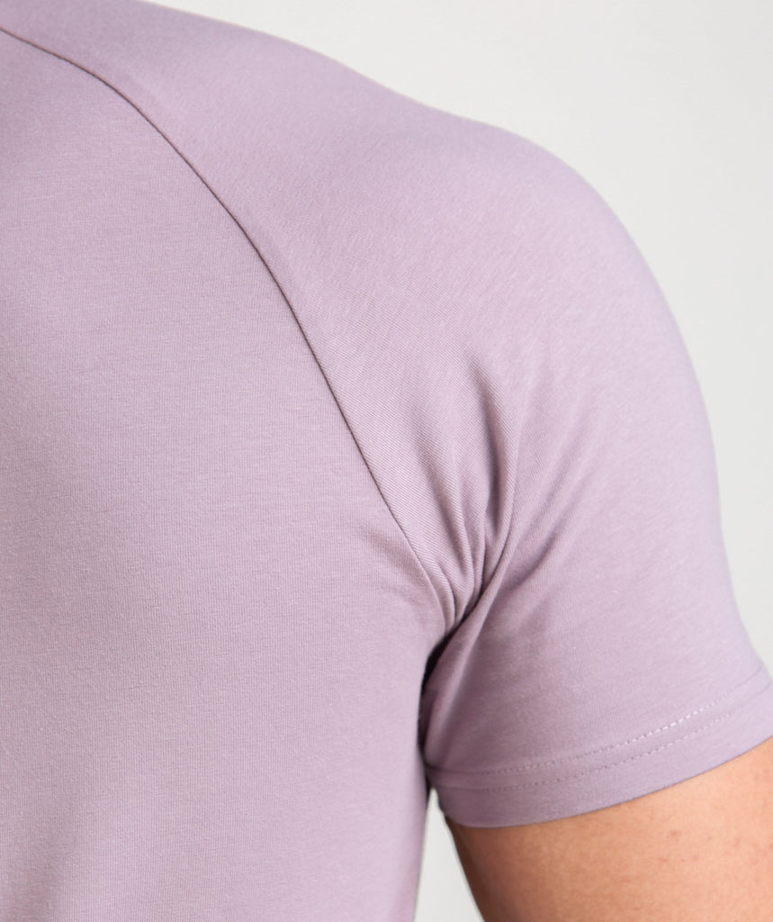 Gymshark Apollo T-Shirt - Purple Chalk/White 6