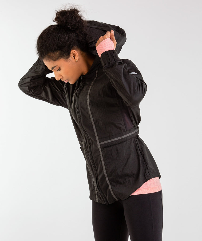 Gymshark Windbreaker Jacket - Black 1