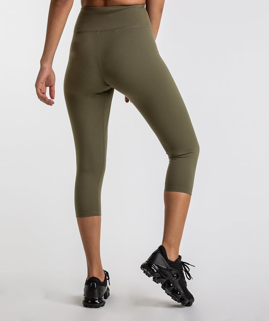 Gymshark Dreamy Cropped Leggings  - Khaki 2