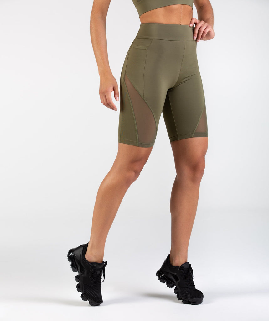 Gymshark Elevate Cycling Shorts - Khaki 1