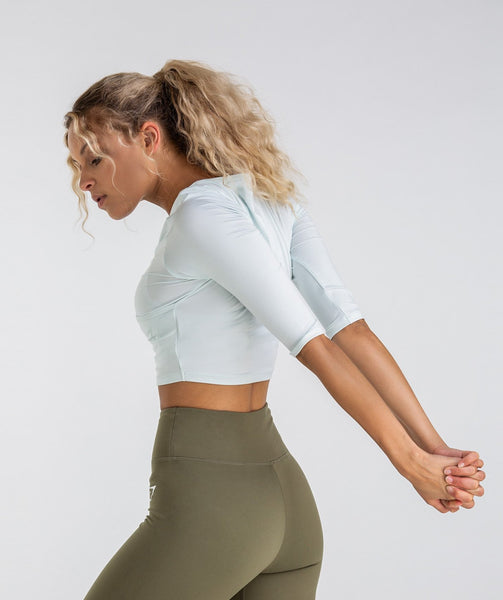 Gymshark Ballet Crop Top - Sea Foam Green 1