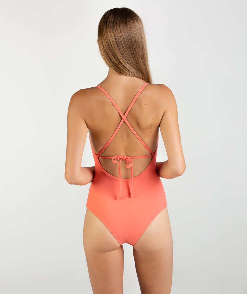 Gymshark Cut Out Swimsuit - Peach Coral 2