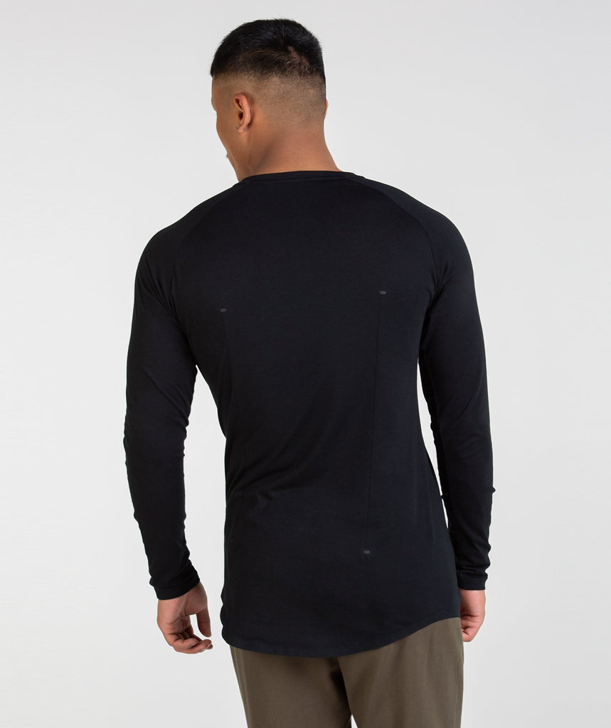 Gymshark Construction Long Sleeve T-Shirt - Black 2