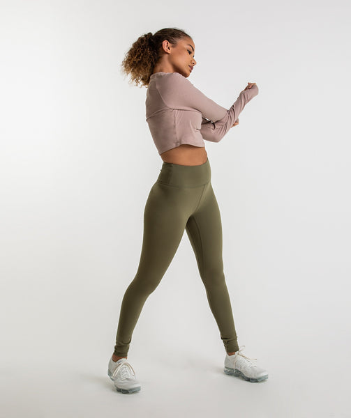 Gymshark Dreamy Leggings - Khaki 3