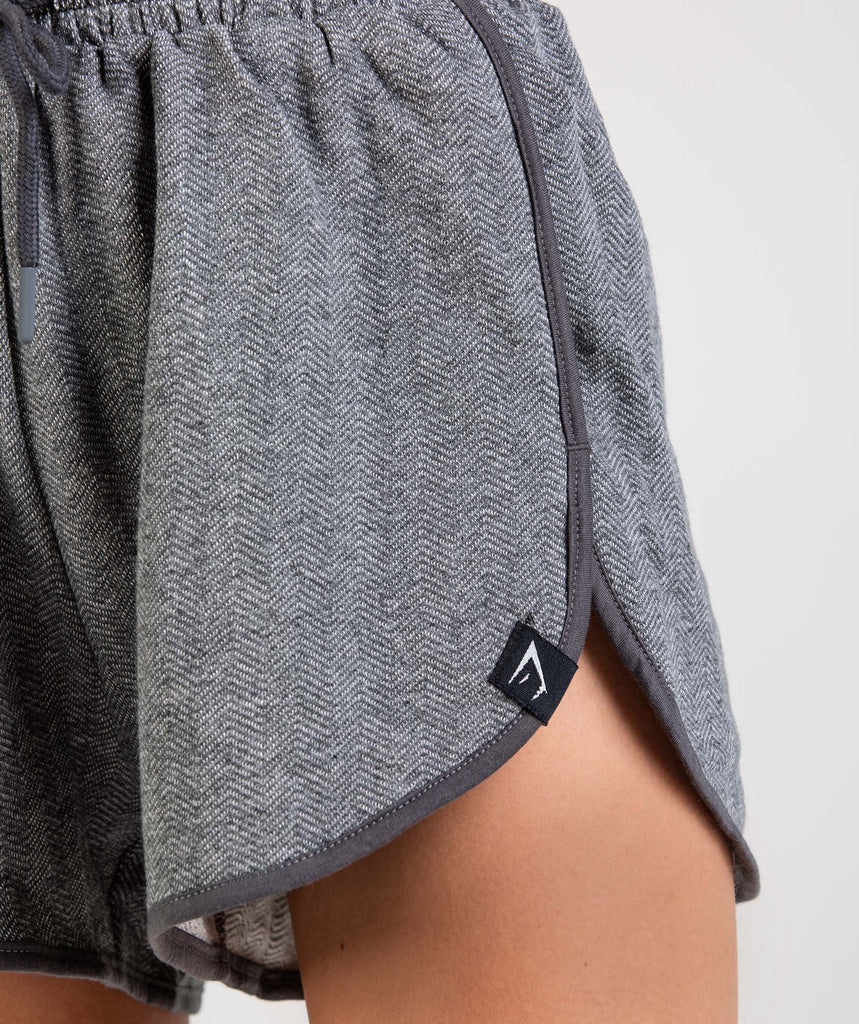 Gymshark Heather Dual Band Shorts - Charcoal Marl 5