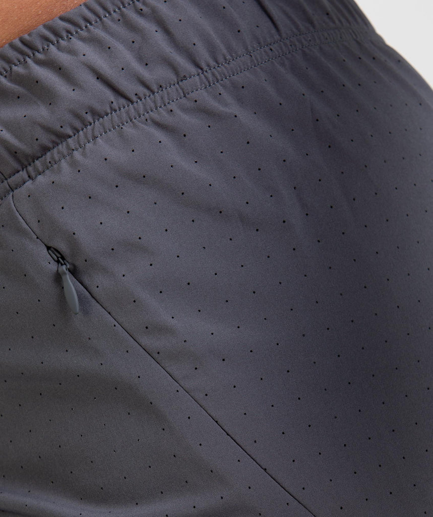 Gymshark Perforated Two In One Shorts - Charcoal 6