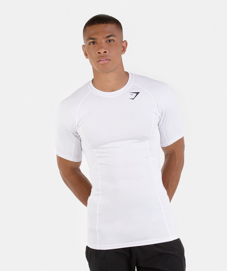 Gymshark Element Baselayer Short Sleeve Top - White 1