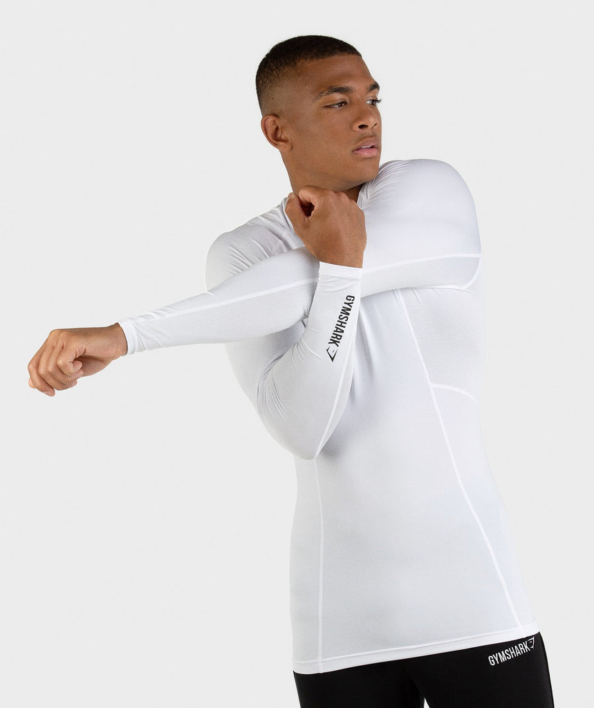 Gymshark Element Baselayer Long Sleeve Top - White 1
