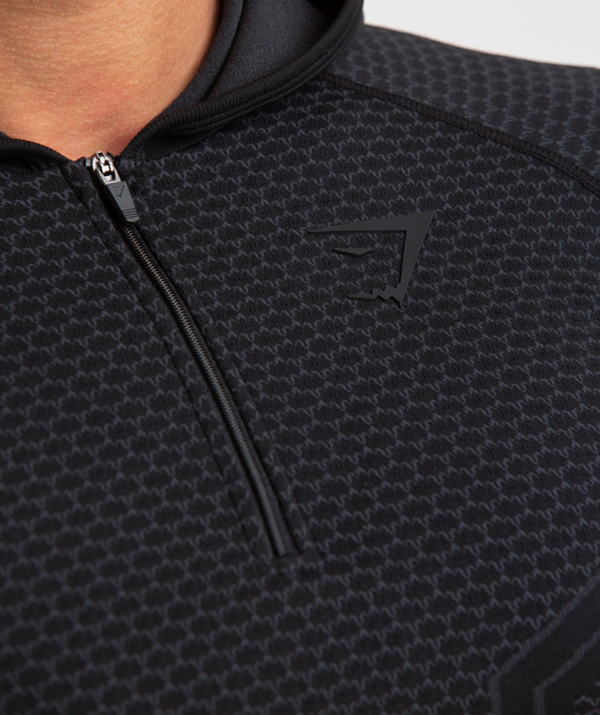 Gymshark Onyx Imperial Long Sleeve Hooded Top - Black 5