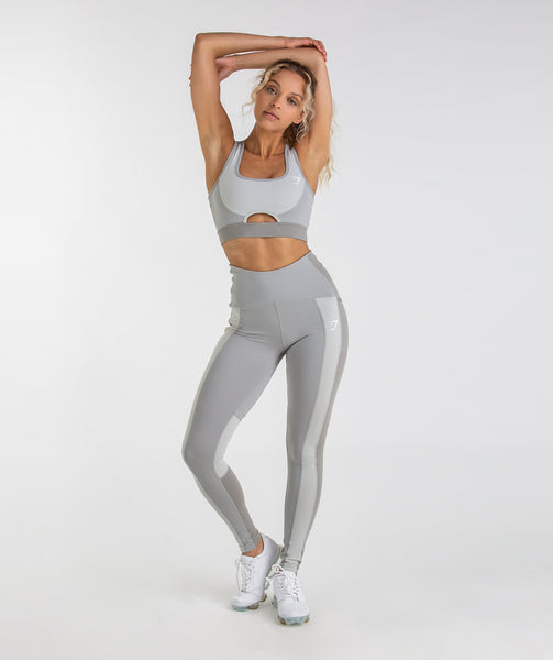 Gymshark Tonal Block Leggings - Light Grey 2