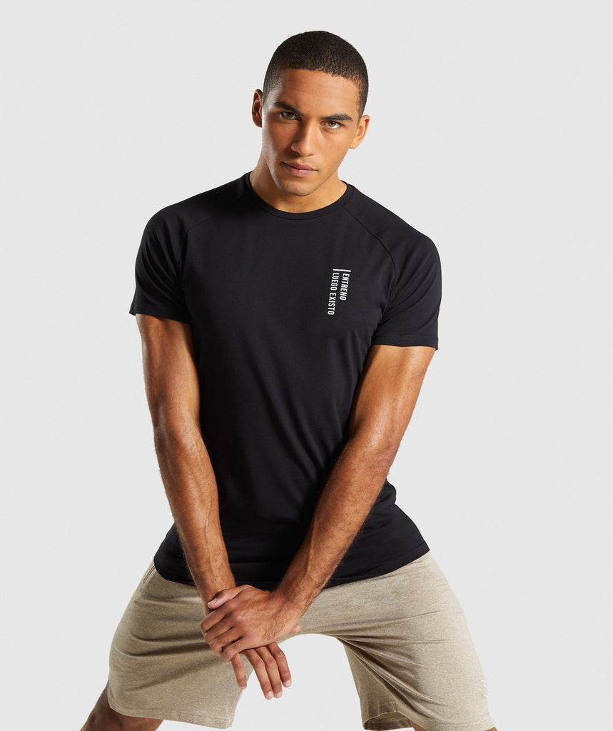 Gymshark Lifting Club T-Shirt Spanish- Black 1