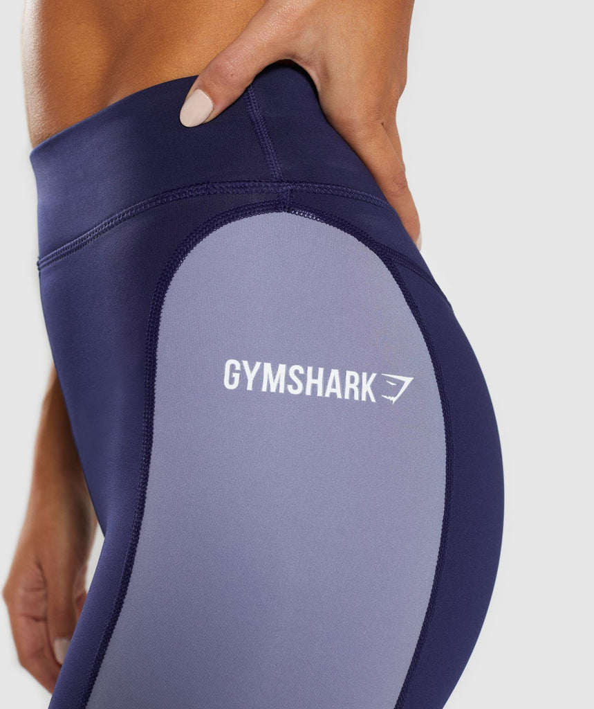 Gymshark Illusion Leggings - Evening Navy Blue/Steel Blue/Night Shadow Blue 6