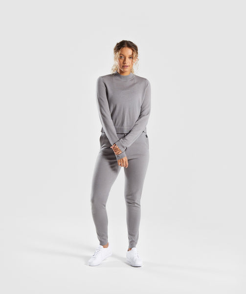 Gymshark Isla Knit Jogger -  Light Grey 3