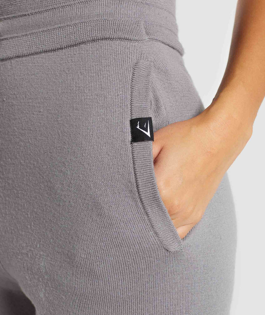 Gymshark Isla Knit Jogger -  Light Grey 5