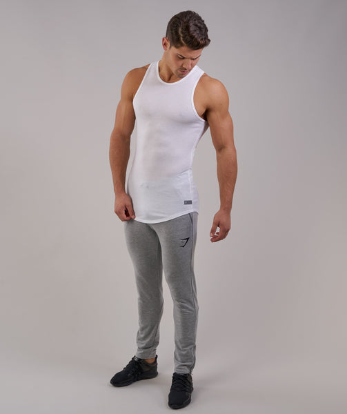 Perforated Longline Tank - White 2