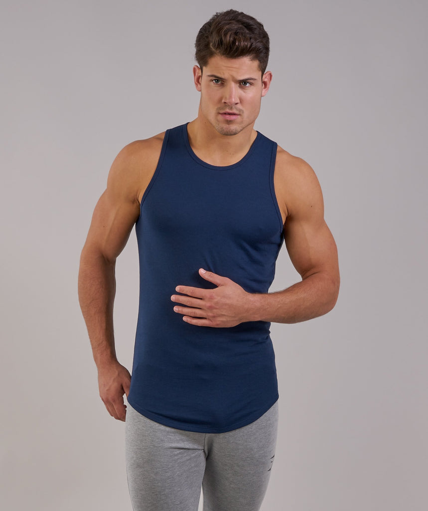 Perforated Longline Tank - Sapphire Blue 5