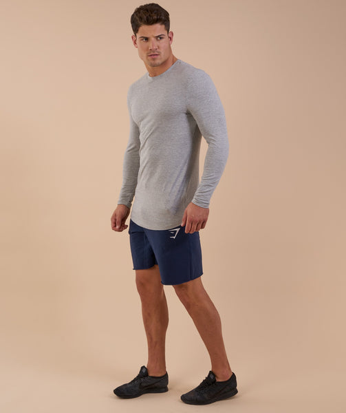 Gymshark Solace Longline Long Sleeve T-shirt - Light Grey Marl 2
