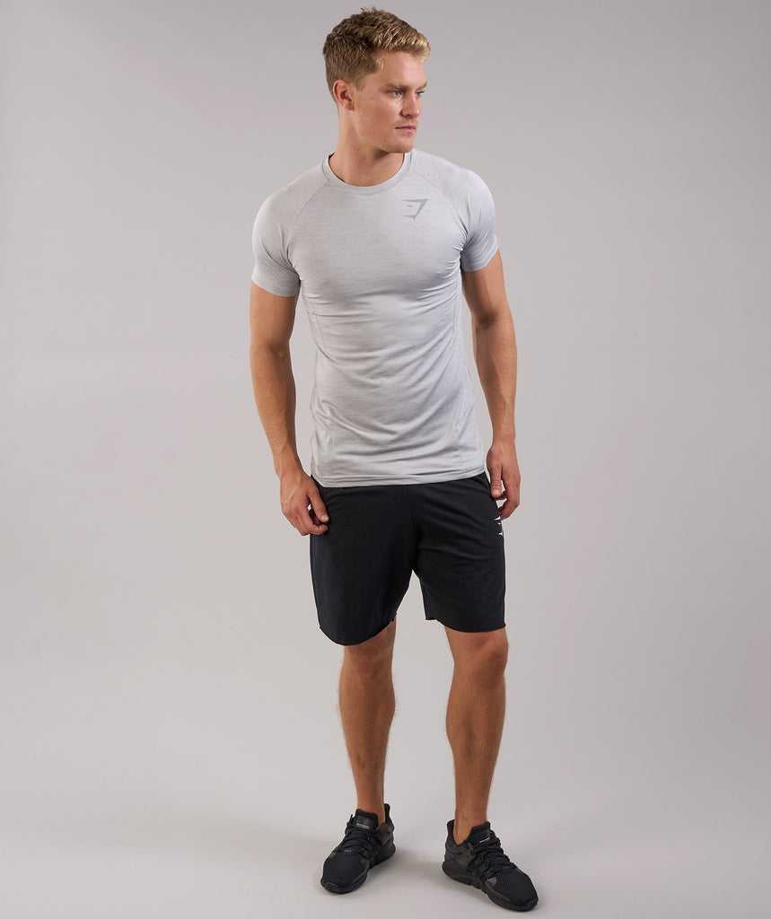 Gymshark Apex T-Shirt - Light Grey Marl 1