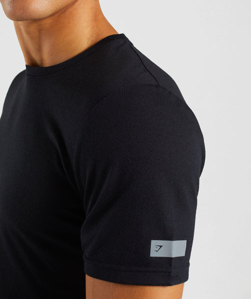 Gymshark Perforated Longline T-Shirt - Black 3
