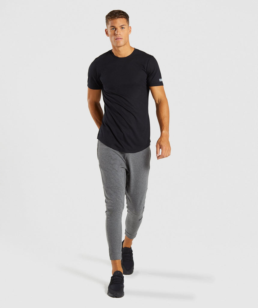 Gymshark Perforated Longline T-Shirt - Black 6