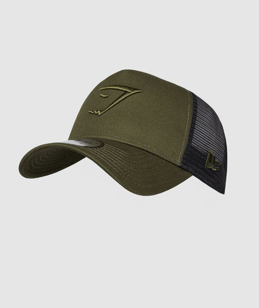 Gymshark New Era Mesh Trucker - Green 4