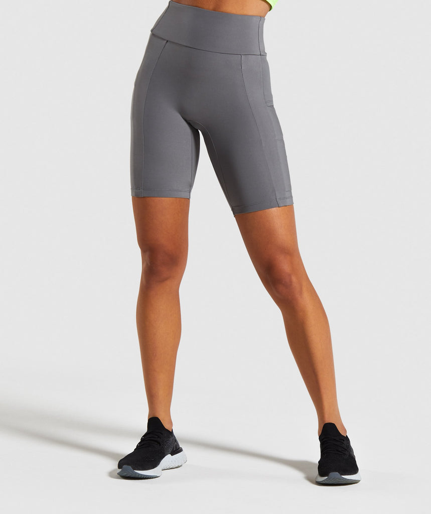 Gymshark Non Stop Cycling Shorts - Grey 1