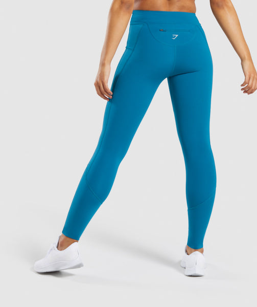 Gymshark Pace Running Leggings - Deep Teal 1