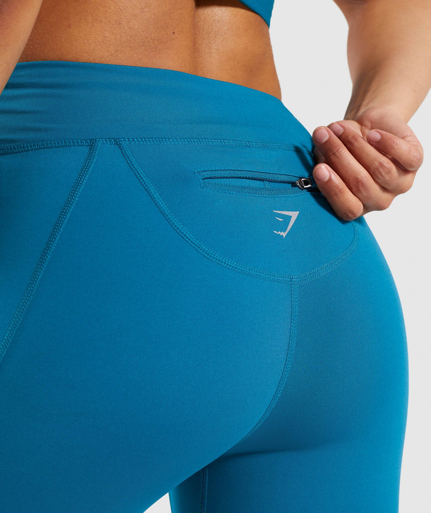 Gymshark Pace Running Leggings - Deep Teal 5