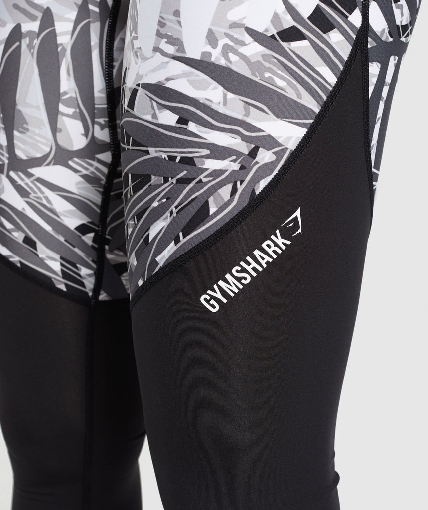 Gymshark Paradise Leggings - Black/White 6