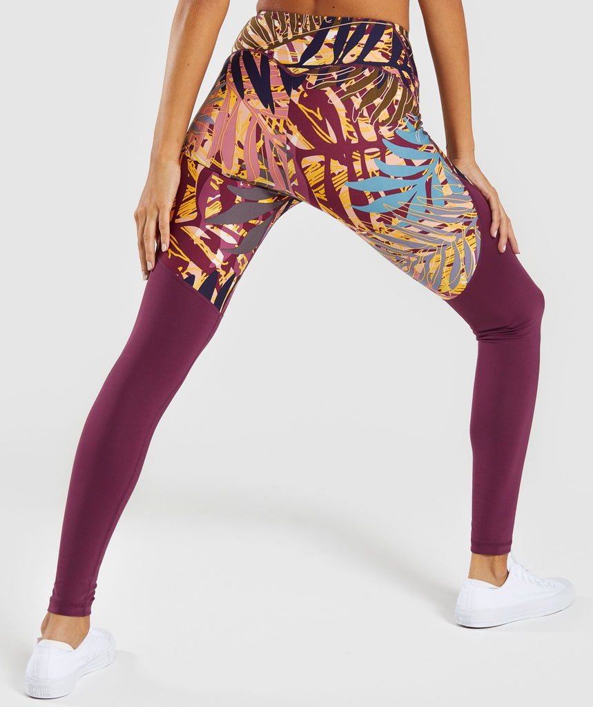 Gymshark Paradise Leggings - Dark Ruby 2