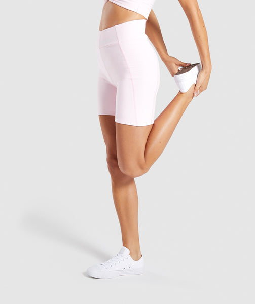 Gymshark Pastel Cycling Shorts - Chalk Pink 2