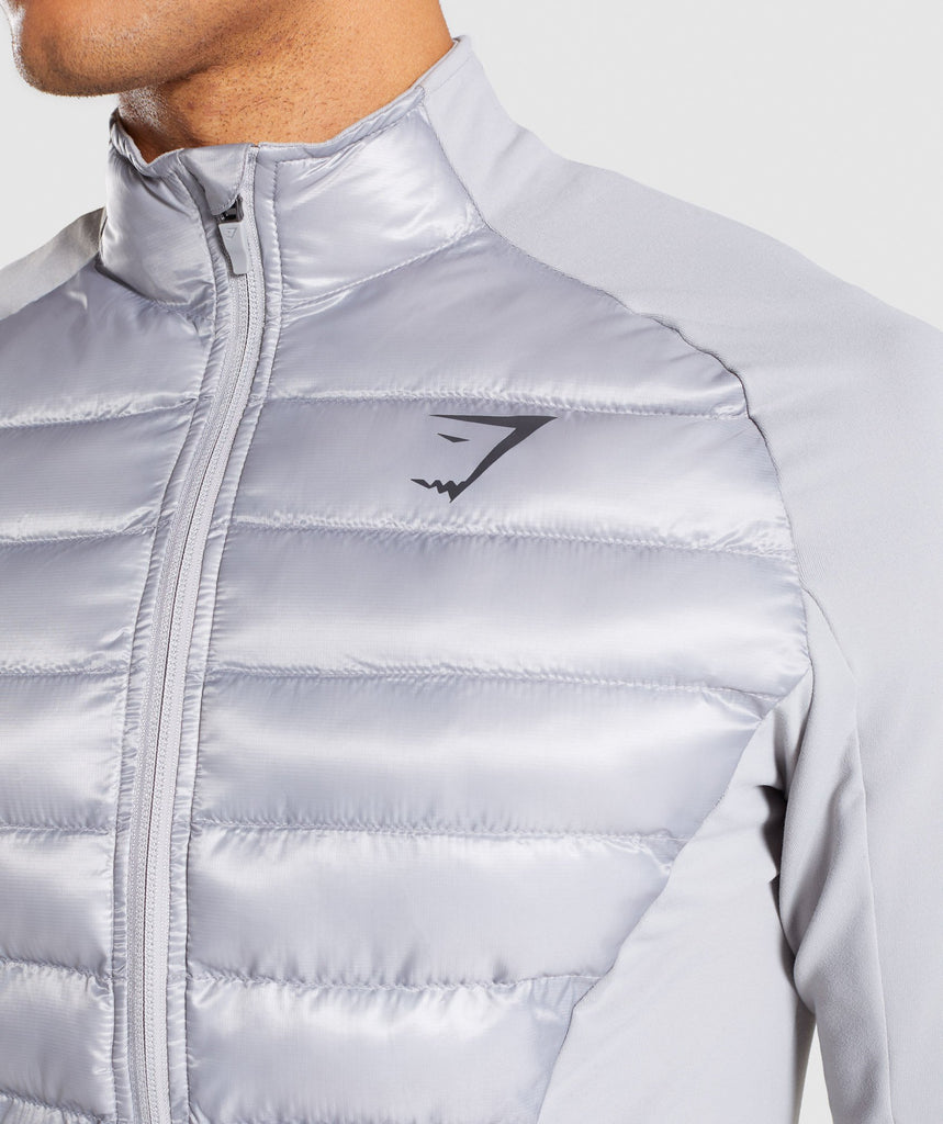 Gymshark Power Lightweight Jacket - Light Grey 5