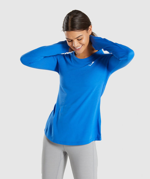 Gymshark Primary Open Cross Back Long Sleeve - Pop Blue 2