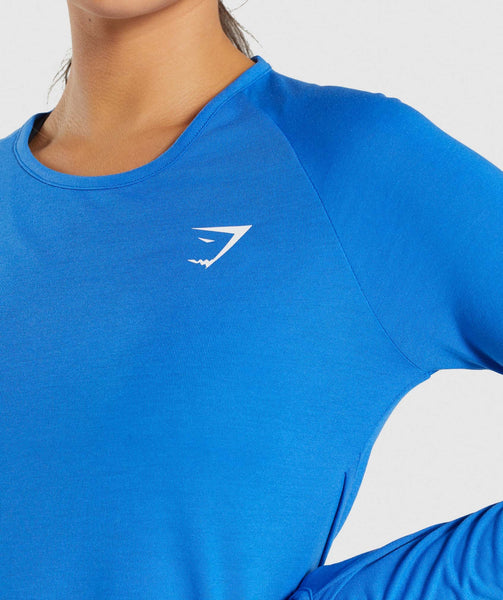Gymshark Primary Open Cross Back Long Sleeve - Pop Blue 4