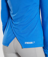 Gymshark Primary Open Cross Back Long Sleeve - Pop Blue 12