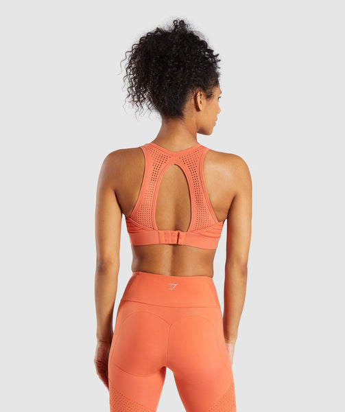 Gymshark Pro Perform Sports Bra - Burnt Orange 1