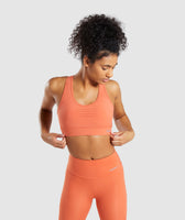 Gymshark Pro Perform Sports Bra - Burnt Orange 9