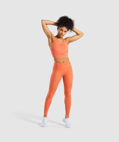 Gymshark Pro Perform Crop Top - Burnt Orange 2