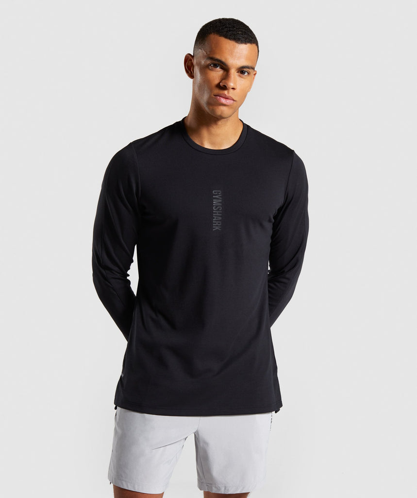 Gymshark Raid Long Sleeve T-Shirt - Black 1
