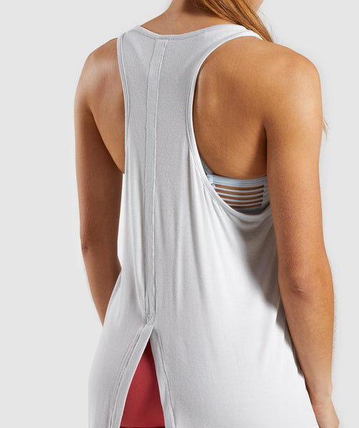 Gymshark Relaxed Graphic Vest - Light Grey 3