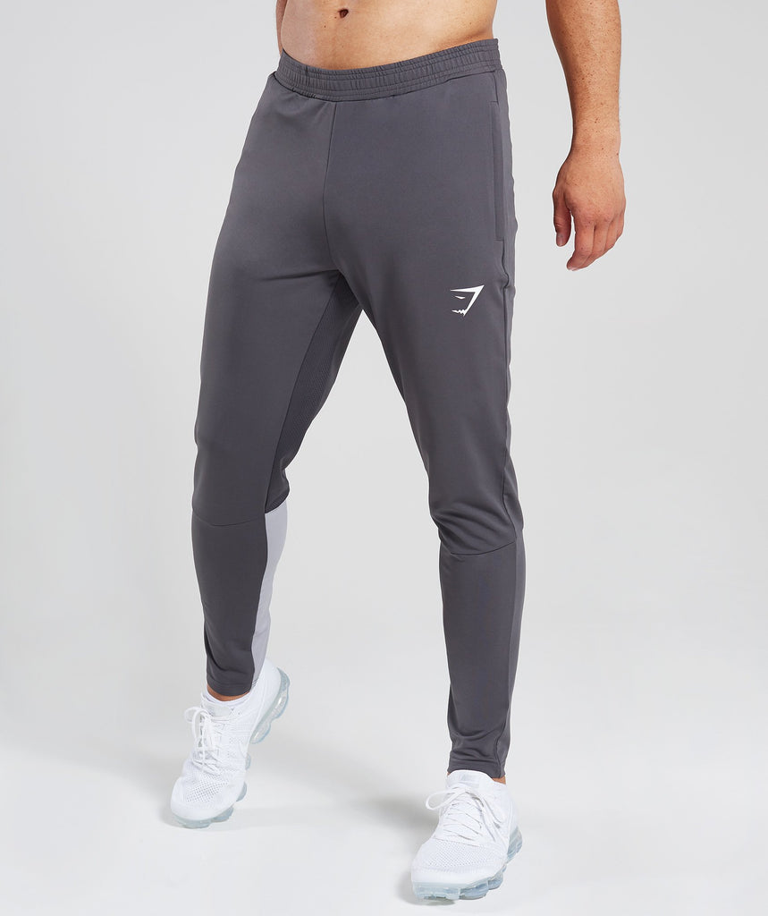 Gymshark Reactive Training Bottoms - Charcoal/Light Grey 1