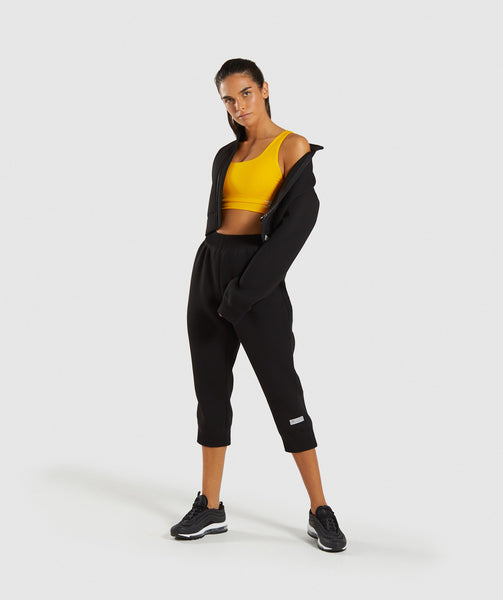 Gymshark Ruched Cropped Joggers - Black 3