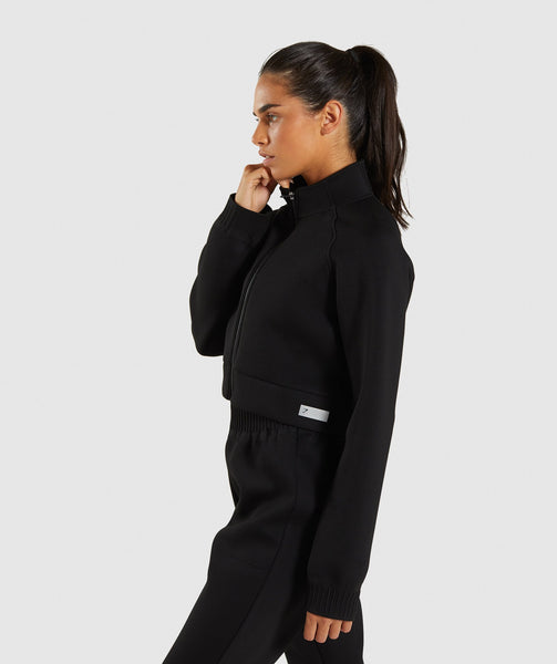Gymshark Ruched Track Top Jacket - Black 2