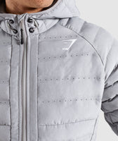 Gymshark Sector Jacket V2 - Light Grey 11
