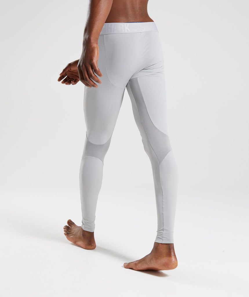 Gymshark Selective Compression Leggings - Light Grey 2