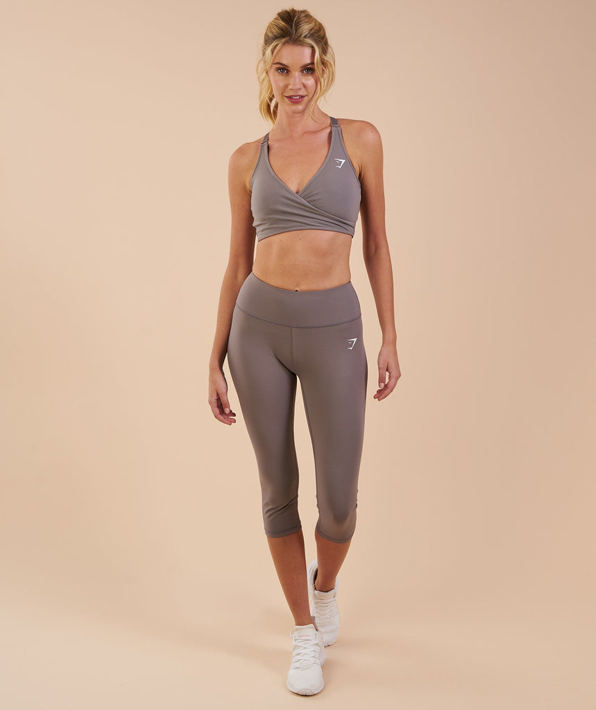 Gymshark Dreamy Cropped Leggings - Slate Grey 1