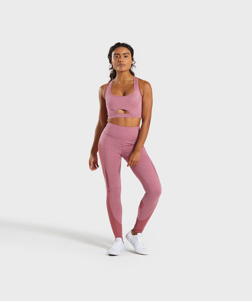 Gymshark Sleek Sculpture Sports Bra - Dusky Pink Marl 3