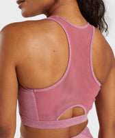 Gymshark Sleek Sculpture Sports Bra - Dusky Pink Marl 11